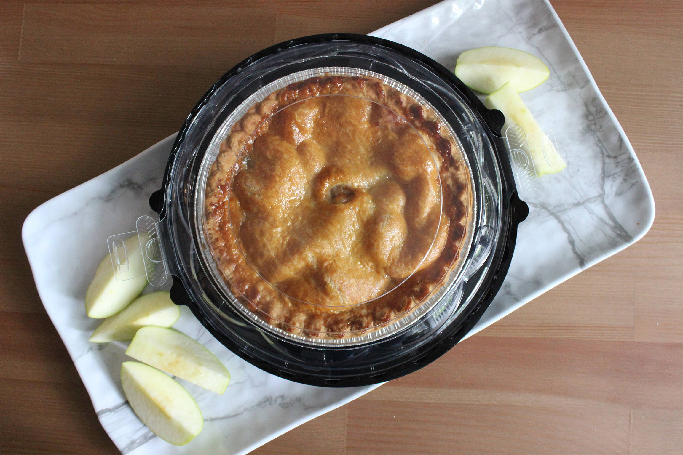 compostable pie container by Canadian bioplastic company
