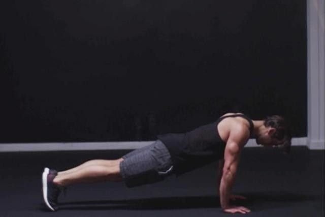 Get into a pushup position