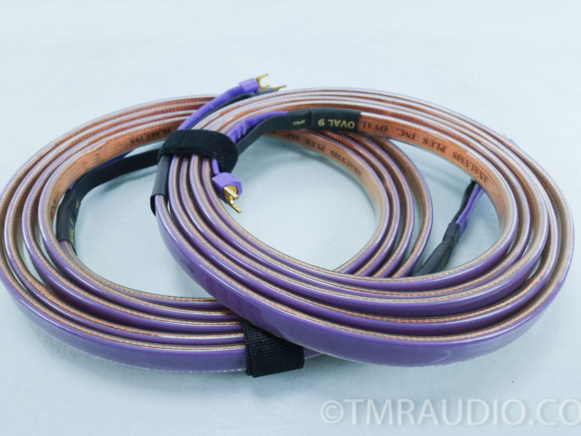 Analysis Plus Oval 9  Speaker Cables; 12' Pair; Spades (9146)