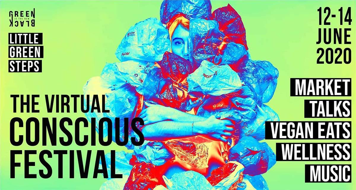 The virtual conscious festival flyer