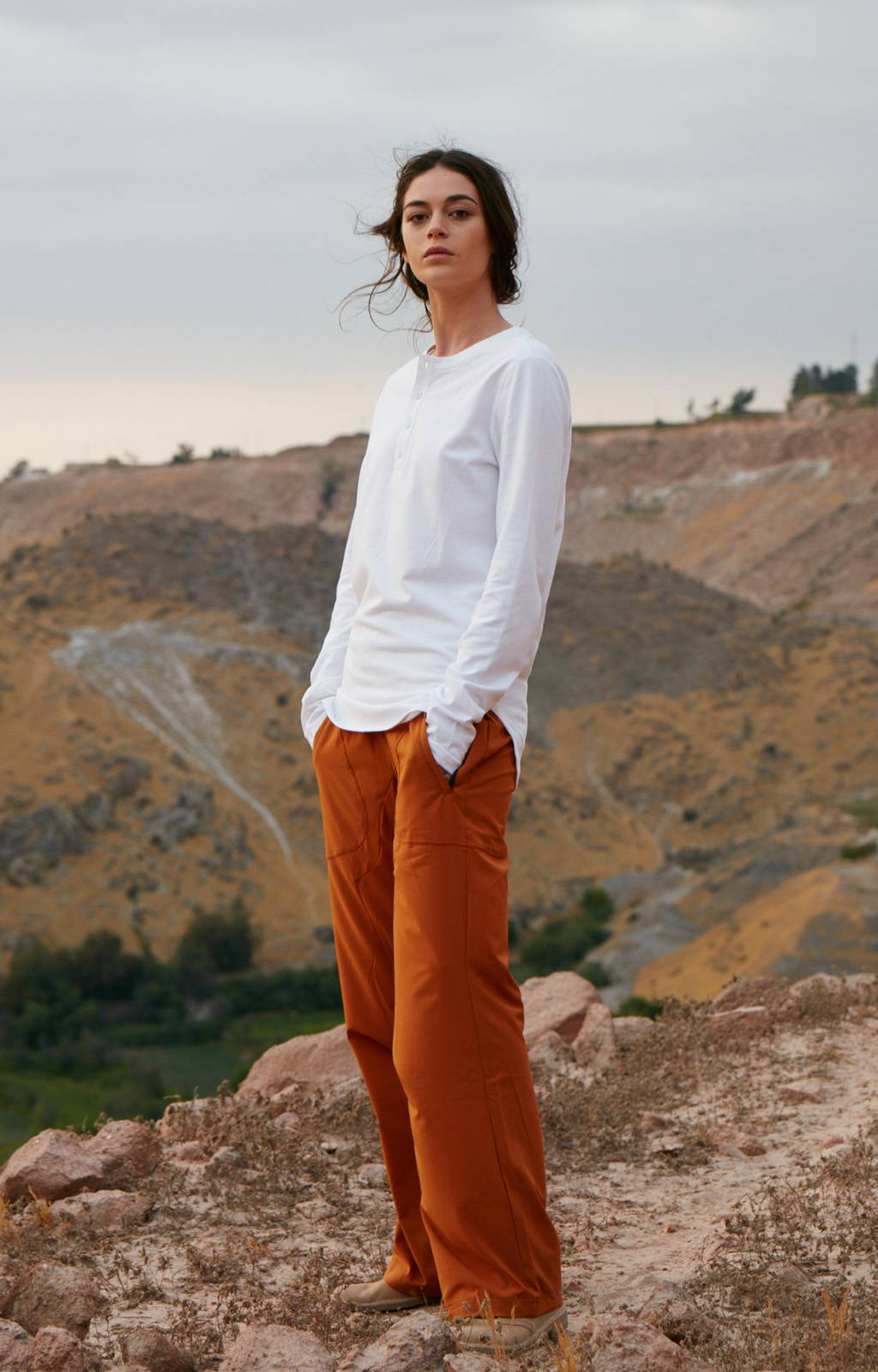 CONSCIOUS - INSANELY COMFY LONG HAUL FLIGHT PANT GINGER