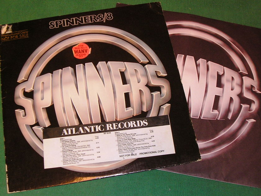 SPINNERS  - 8 - - RADIO STATION STICKERS - PROMO COPY NOT FOR SALE ** 9/10 **