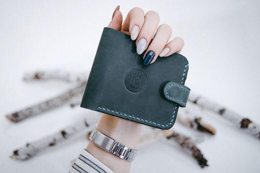 Кожаный бумажник Classix Green