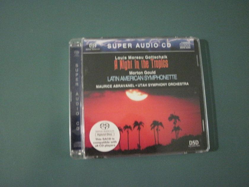 "Gottschalk ""A Night in the Tropics"" Morton Gould - Latin American Symphonette, Vanguard SACD in like new condition."