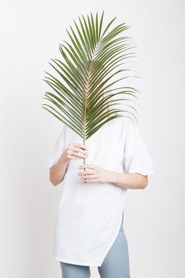 Асимметричная рубаха с коротким рукавом