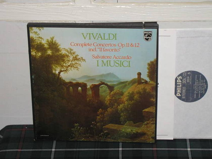 Accardo/I Musici - Vivaldi Complete Cto 3LP Boxset Philips Import 6500 3lp box