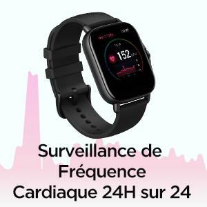 Amazfit GTS 2e - Surveillance de Fréquence Cardiaque 24h sur 24