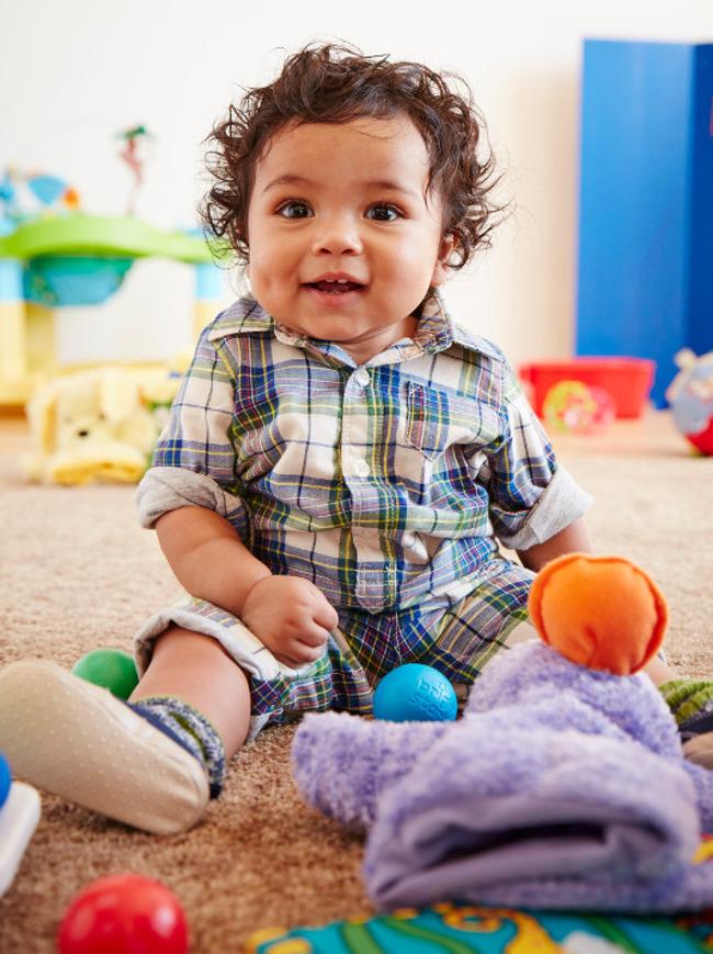 infant child smiling