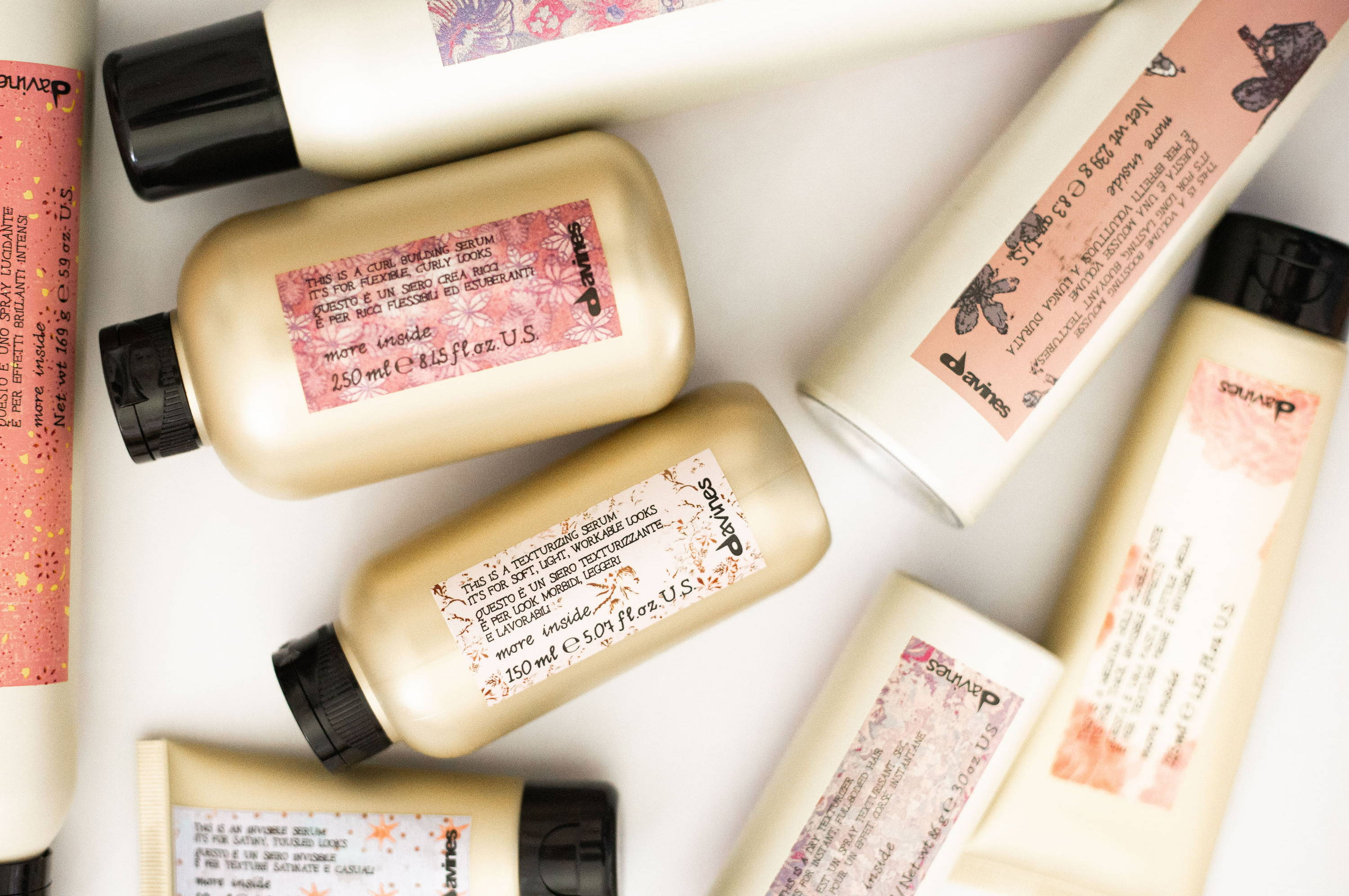 Davines curl building styling products