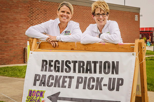 Packet Pickup Rock the Block Run