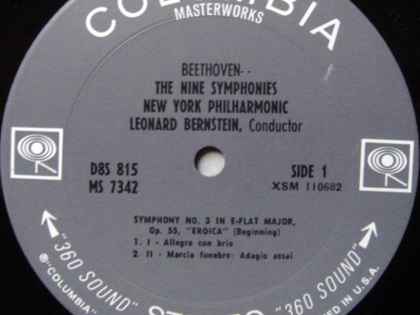 Columbia 2-EYE / BERNSTEIN, - Beethoven The Nine Symphonies, NM, 8LP Box Set!