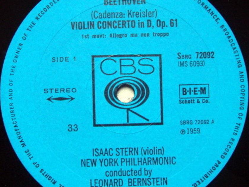 Columbia UK / STERN-BERNSTEIN, - Beethoven Violin Concerto, MINT, UK Pressing!