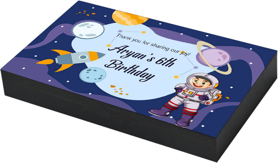 Space theme birthday return gift