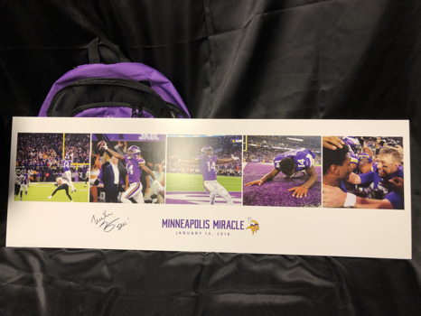 Limited Edition Vikings Poster signed by Mike Zimmer