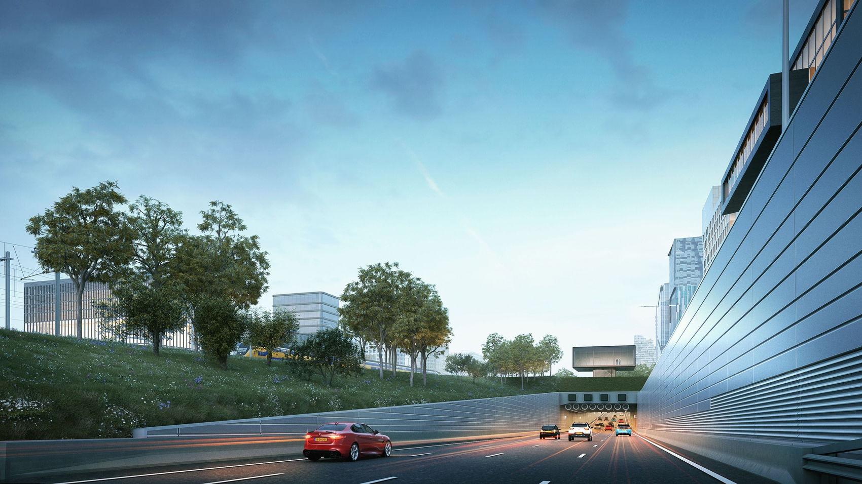 De zuidelijke tunnel bij de A10 in de toekomst