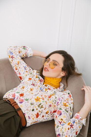 """Женская рубашка с длинным рукавом """"Botanyca"""