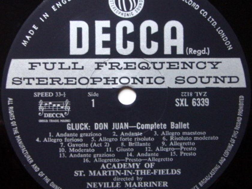 DECCA SXL-WB-ED3 / MARRINER, - Gluck Don Juan-Complete Ballet, MINT!
