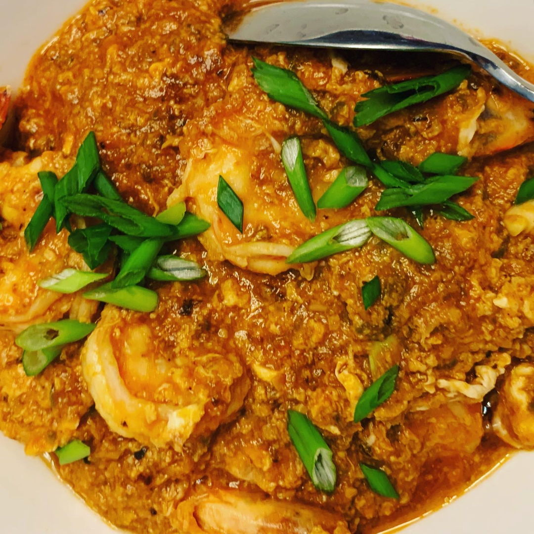 Singapore style chili shrimp/prawn
