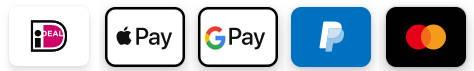 betaalmogelijkheden bij techstate. iDeal, Apple Pay, Google Pay, Paypal en creditcard
