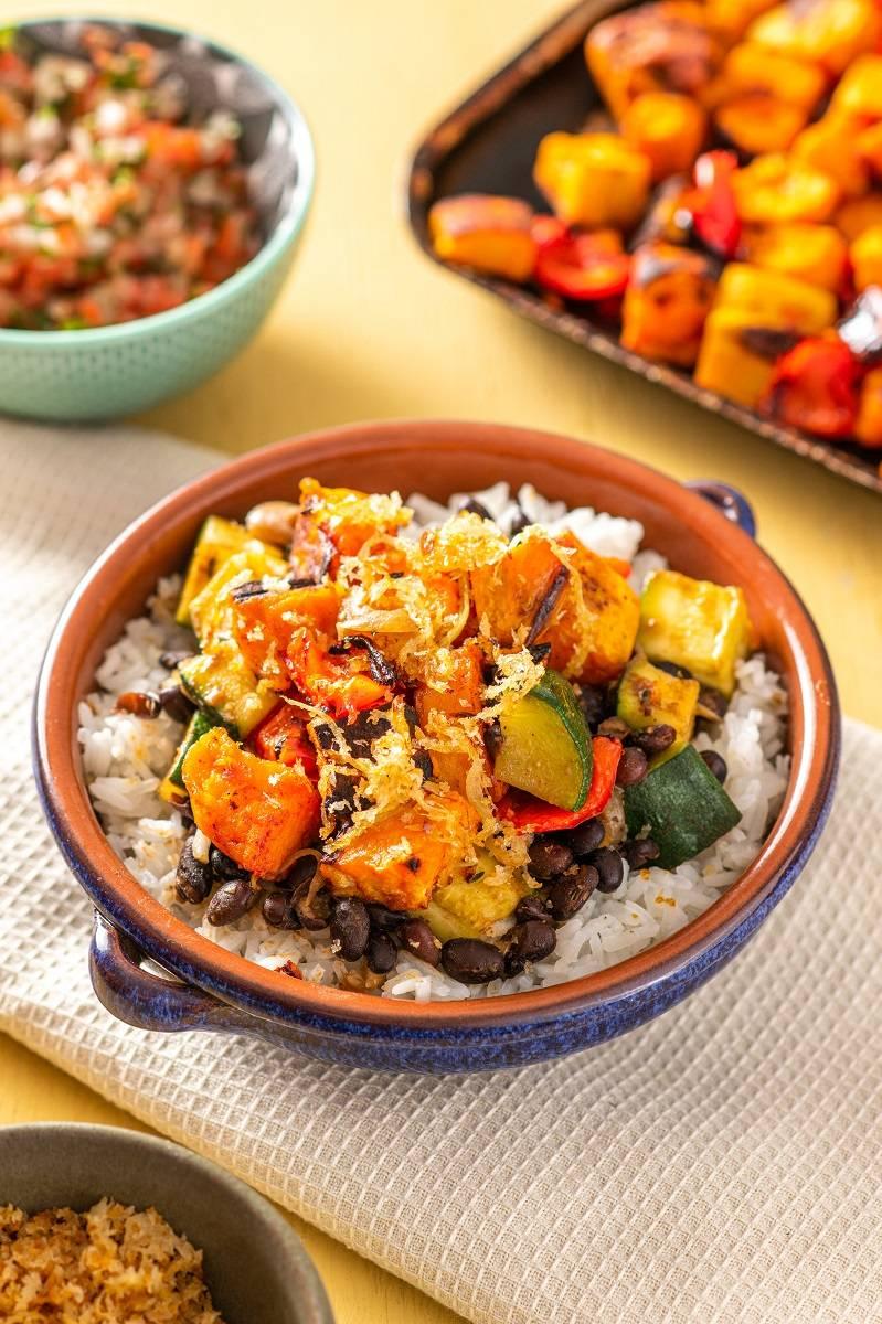 Vegan feijoada made by Feast Box. Feijoadas are the national dish of Brazil