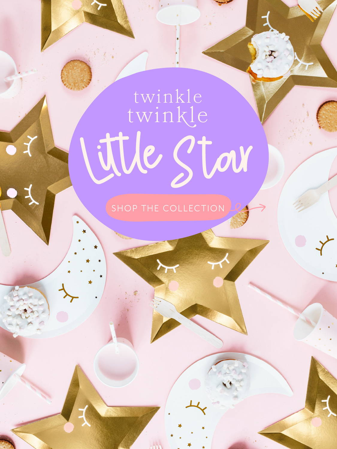 Hello Party Modern Stylish & Luxury Party Supplies Twinkle Twinkle Little Star Party Theme Baby Shower