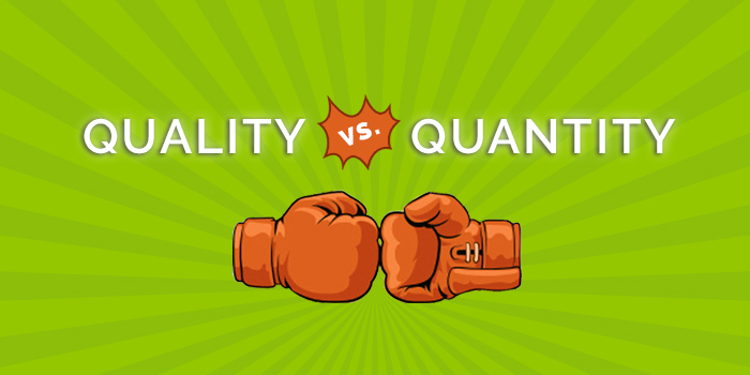Must Read Quality VS Quantity Content Marketing