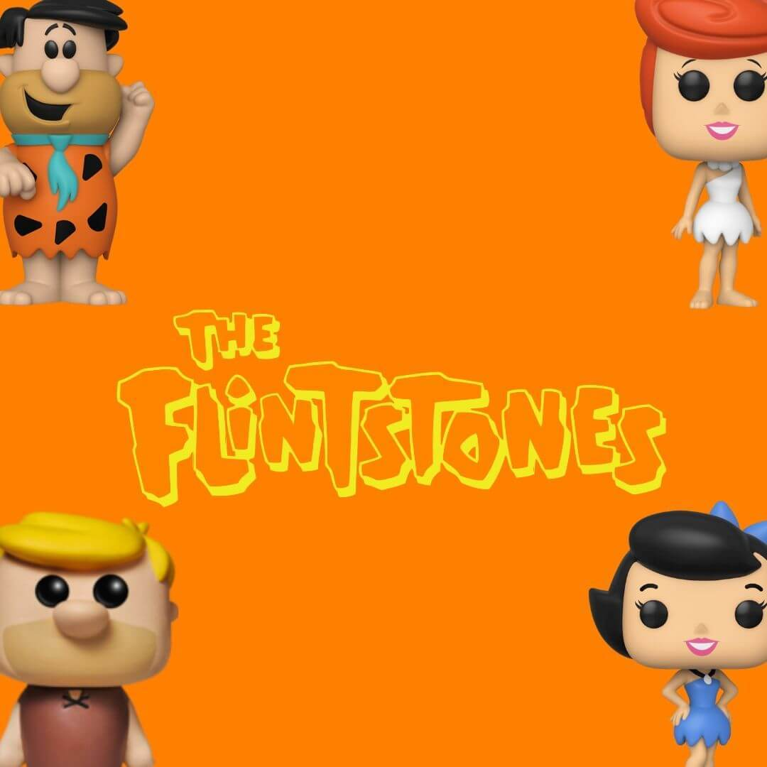 1000-3000, Bobble head, bobble-heads, funko, Tv series, below 1000, pop, flinstones, Fred Flinstone, Vilma, Barney, Betty, bam bam, Dino