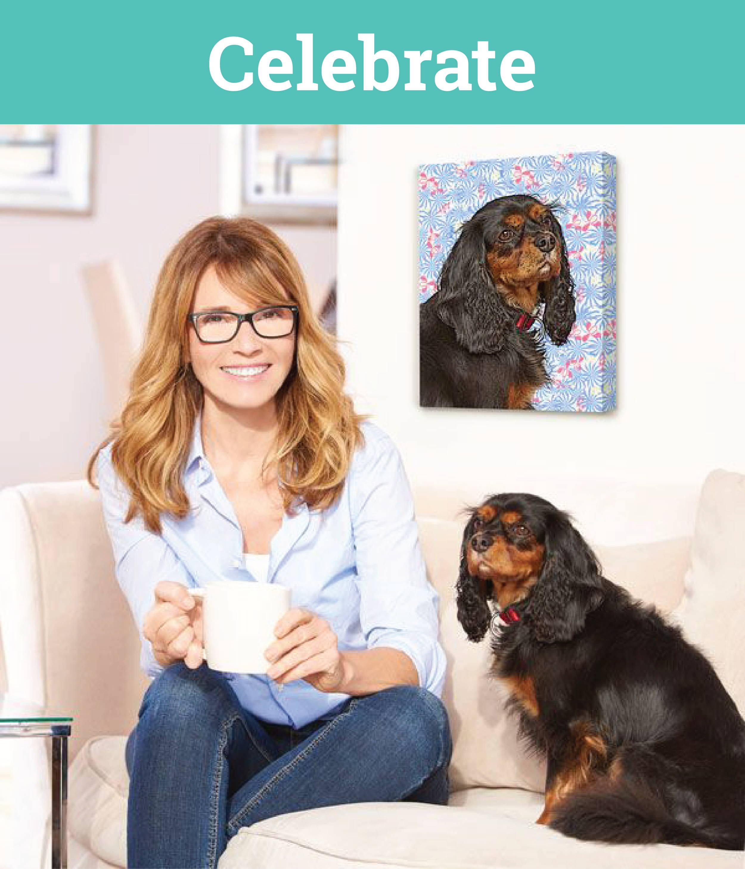 Dog Portrait - celebrate