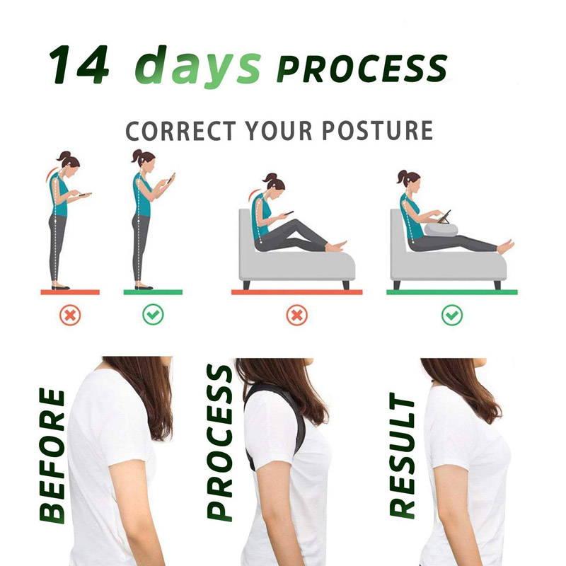 back posture corrector before after