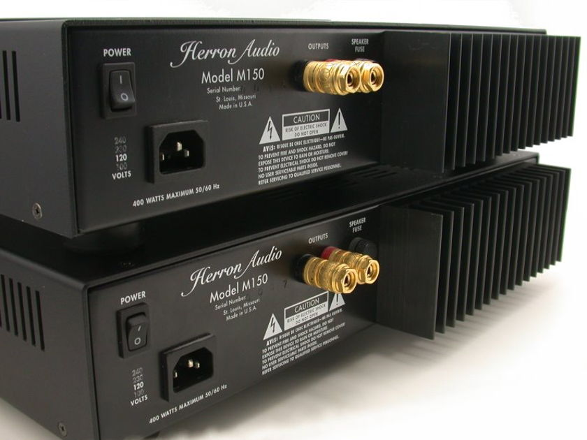 Herron M-150 Mono Amplifiers