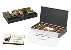 Gift Items for Marriage - 18 Chocolate Box With Printed Bar - (10 Boxes)