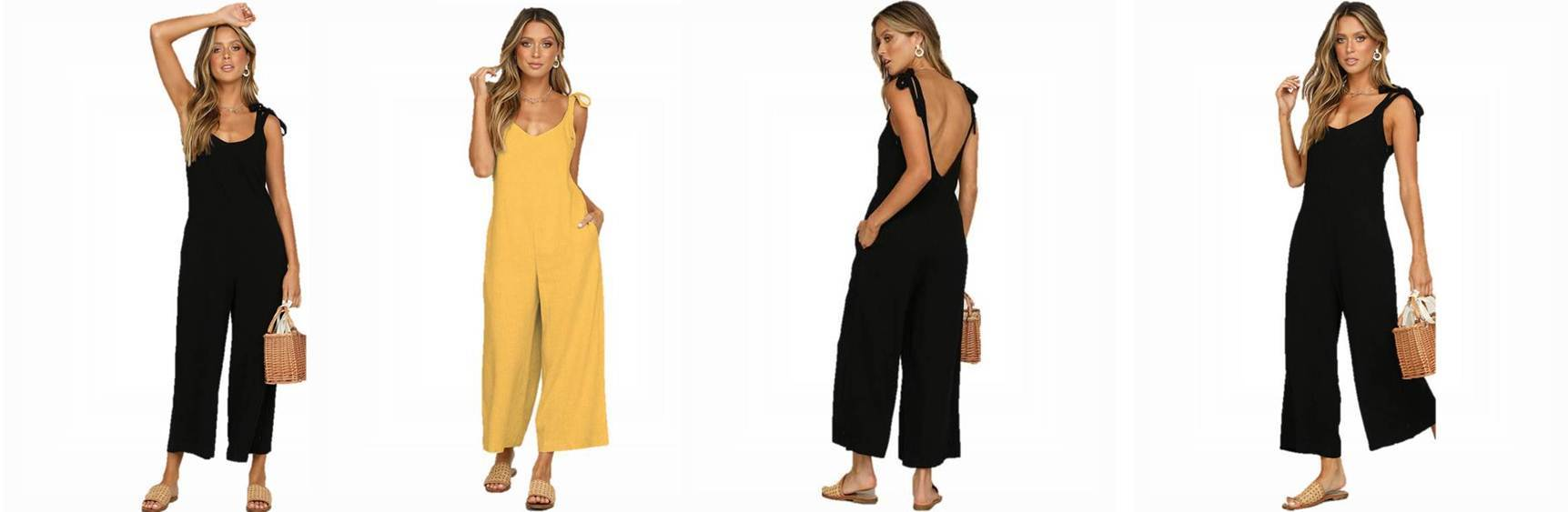 Black low back jumpsuit
