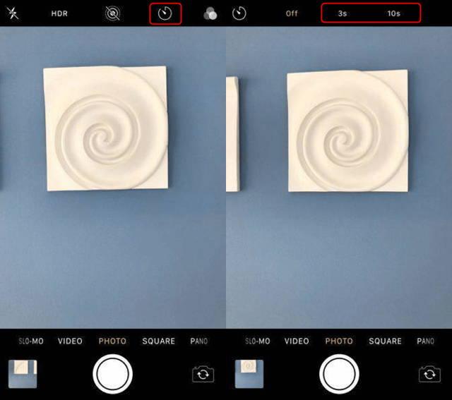 iPhone Camera Timer