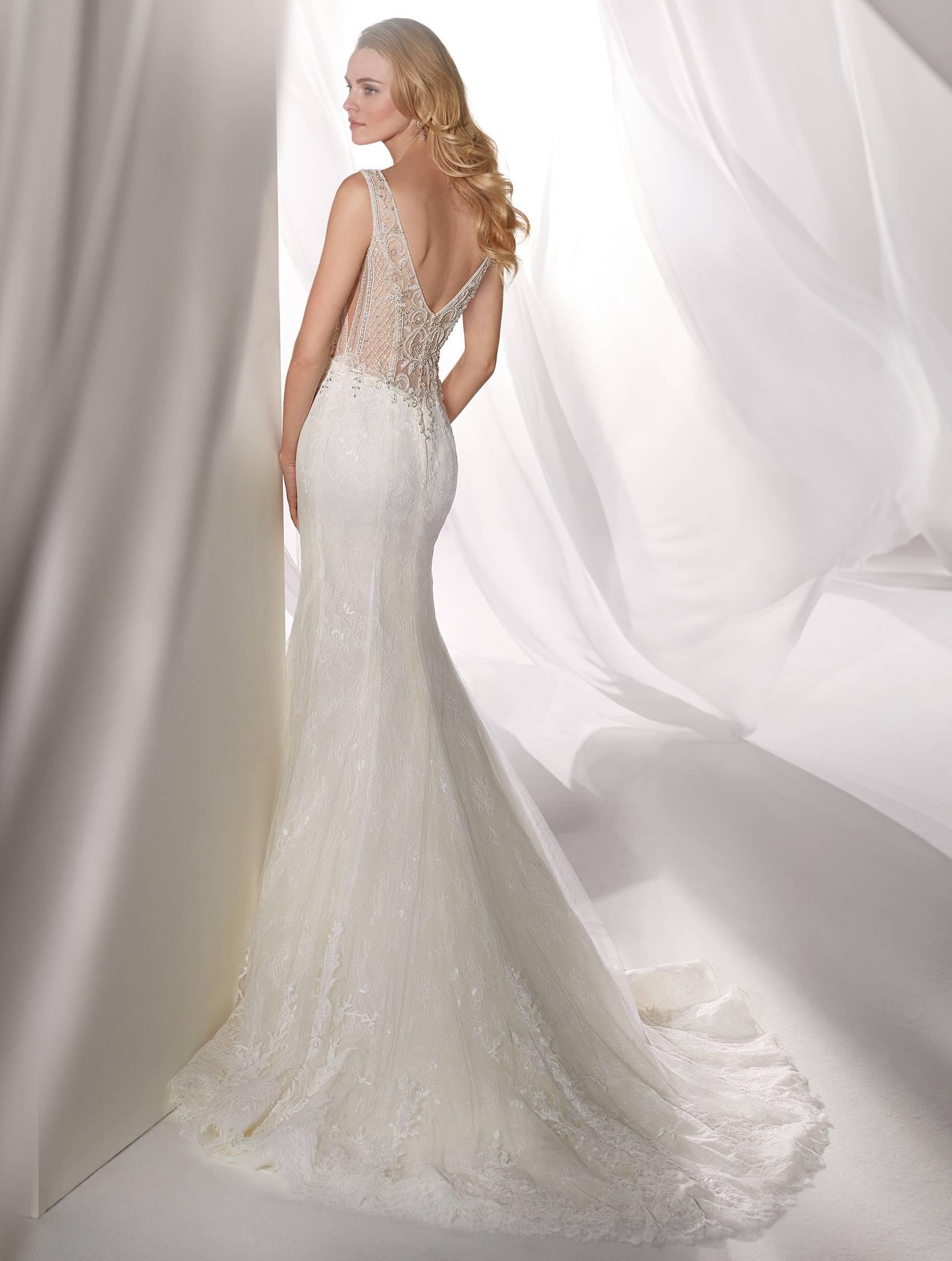 NIAB19121 NICOLE MILANO WEDDING DRESS