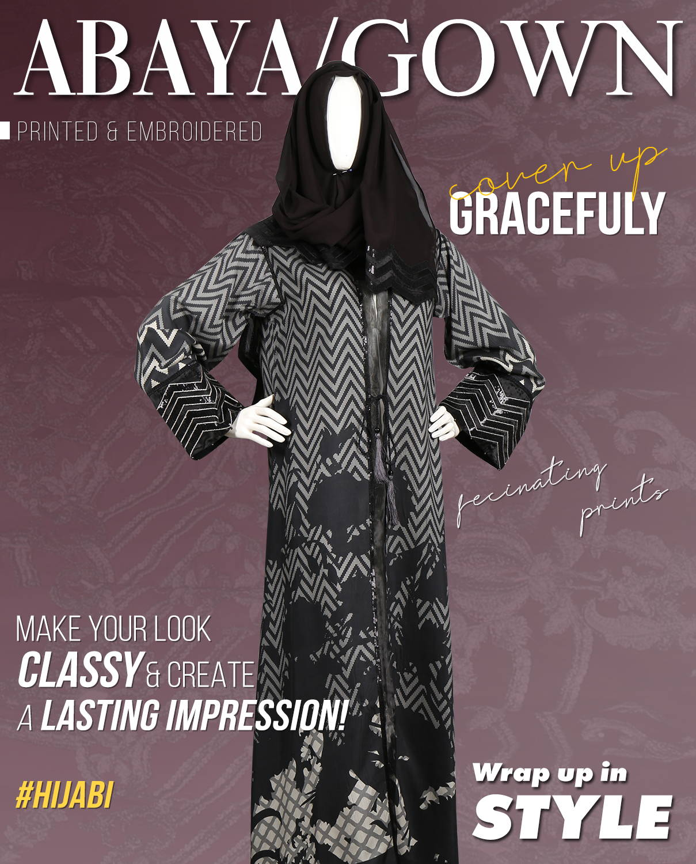 abaya, hijab fashion, long gowns.