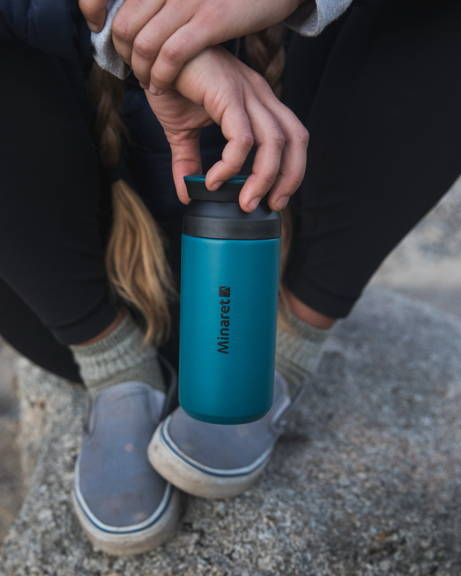 Blue Travel Mug for Hiking
