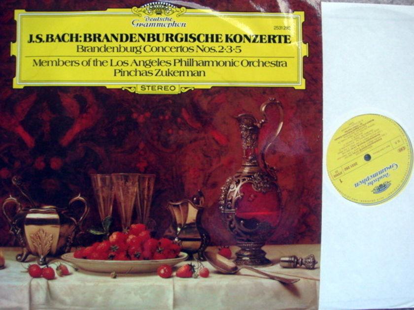 DG / ZUKERMAN-LPO, - Bach Brandenburg Concertos No.2,3 & 5,  MINT!