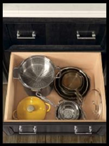 36″ OPTIONAL BASE POTS AND PANS 2-DRAWER