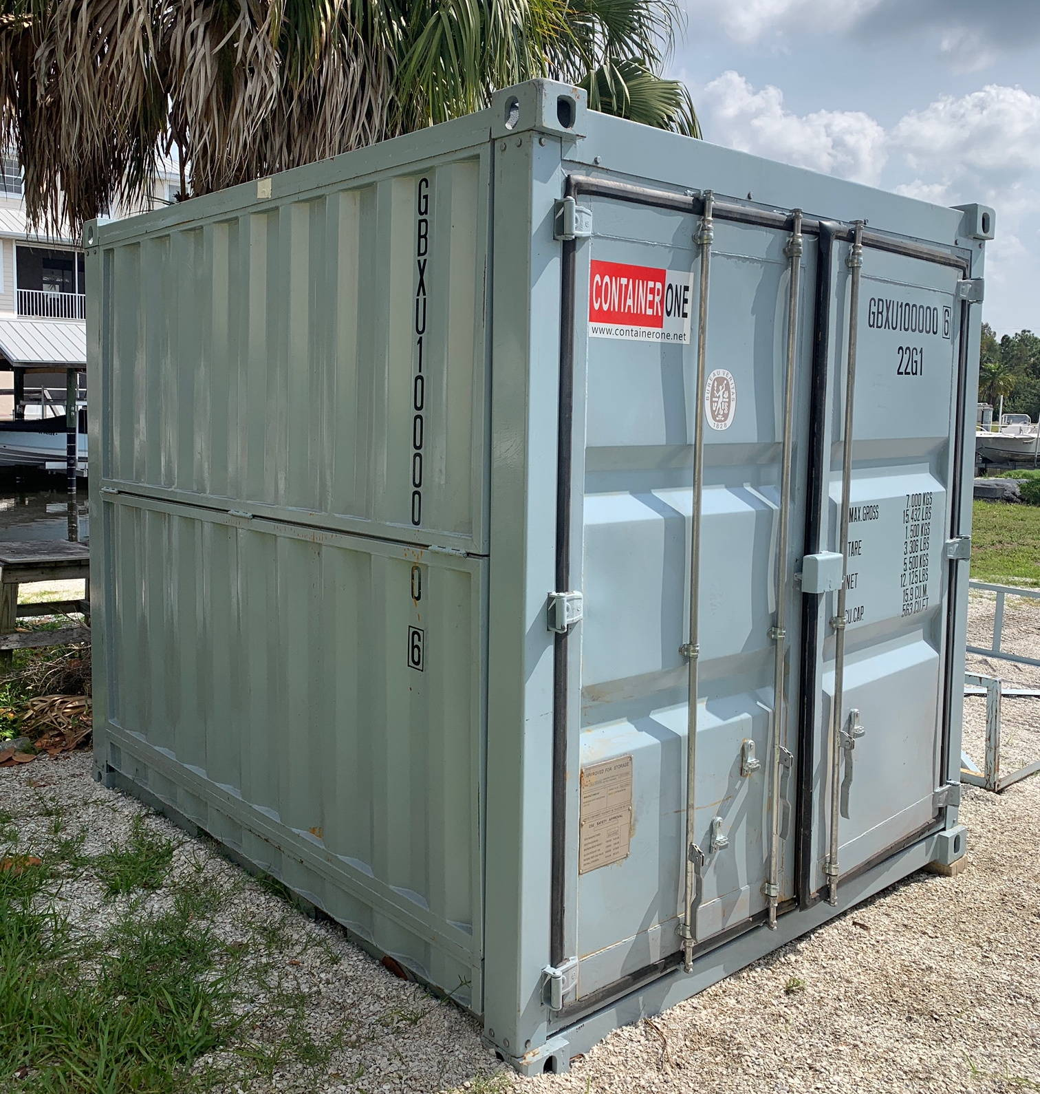 10 foot collapsible shipping container side view