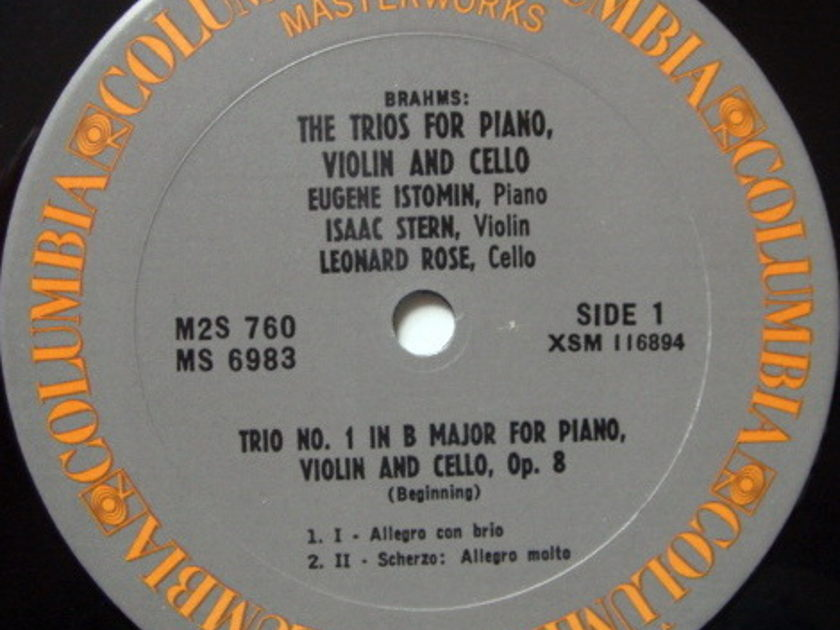 Columbia / STERN-ROSE-ISTOMIN TRIO, - Brahms Trios for Piano, Violin & Cello, MINT, 2LP Box Set!