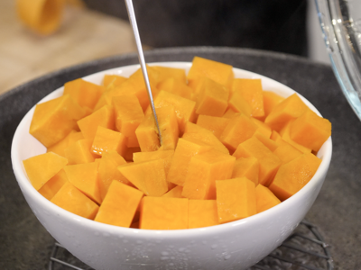 Prepare mashed sweet potatoes