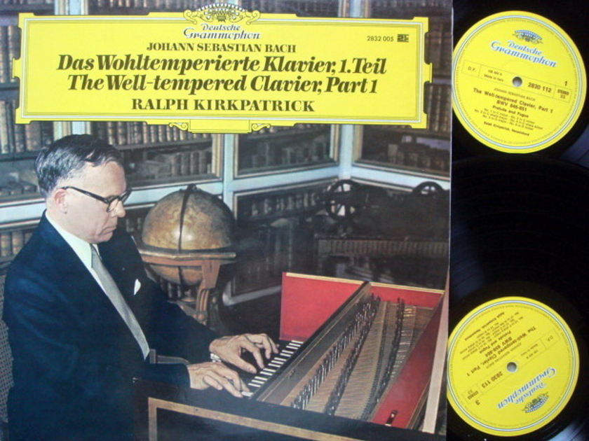DG / RALPH KIRKPATRICK, - Bach Well-Tempered Clavier Part 1, NM, 2LP Set!