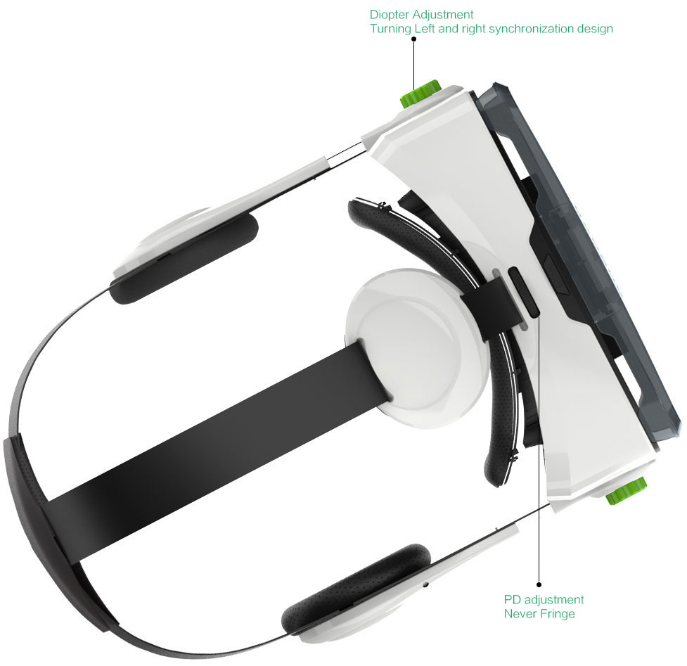 HyperVR: Smartphone VR Headset w/ Built-in Headphones