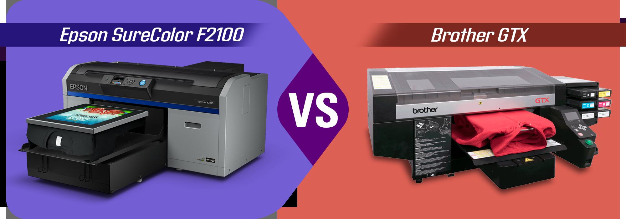 Epson SureColor F2100 vs Brother GTX