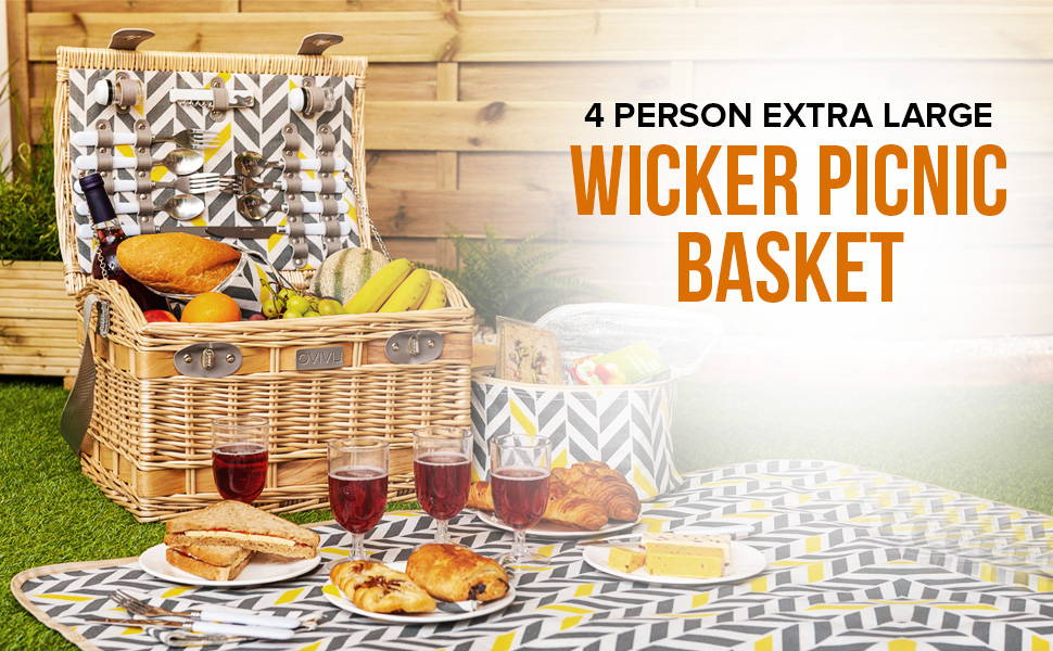 4 Person Extra Large Basket