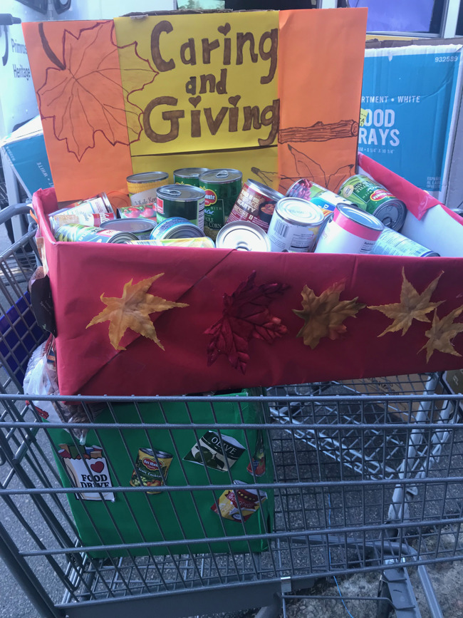 Preschoolers donate food for those in need