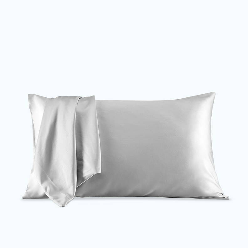 sleep zone bedding website store products collections pillow pillowcase satin pillowcase  silver grey gray