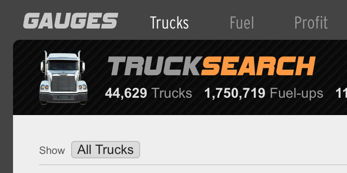 Track other trucks' fuel mileage