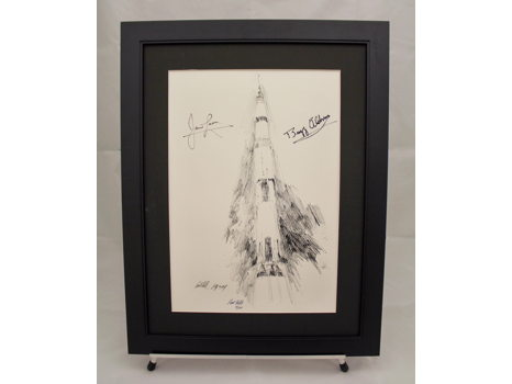 SIGNED APOLLO XI PAUL CALLE PRINT