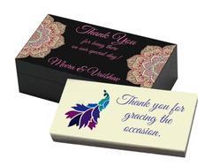Return Gift Ideas for Wedding - Peacock (10 Box)
